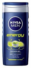 Nivea For Men Energy 2 in 1 Shower Gel 250ml Mint Extract Body , Face & Hair New