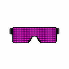 LED Glasses Light Up Glow Flashing Sunglasses Eyewear Nightclub Party 8 Pink