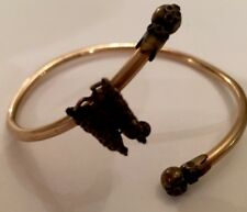 Victorian Etruscan Childs GF Bangle W/ Filigree Butterfly