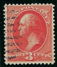 B&D: 1887 U.S. Scott 214 3c vermilion Washington--exceptional