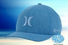 New Hurley Phantom Boardwalk Heather Blue Mens Flex Fit Cap Hat