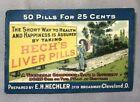 c 1900 HECH's LIVER PILLS Medicine DRUG Pills Envelope ANTIQUE ADVERTISING