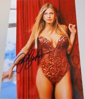 JENNIFER ANISTON * SEXY RED OUTFIT *  HAND SIGNED 8.5 X 11 PHOTO W/COA