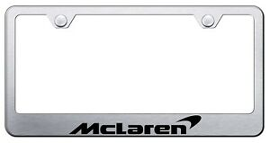 Mclaren License Plate Frame Stainless Steel with Laser Engraved