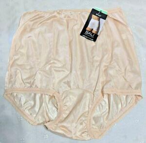 Bali 2142 Freeform Nylon Brief Panty Size 8 Mocha Mist NEW!!