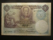 1913 PORTUGAL 5 ESCUDOS P114