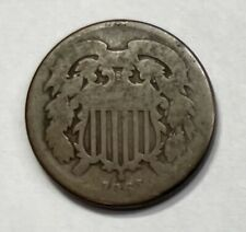 1864 Two Cent Piece - Very Rare Authentic Collectible - Free Shipping