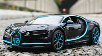 Maisto 1:24 BUGATTI Chiron Supercar Alloy Sports Car Model Kids Toys