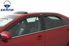 AVS Rain Guards Tape-On Window Vent Visor 4 Piece For 2014-2018 Mazda 3 - 94262