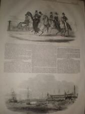 Queen Victoria Sketch in Hyde Park & launch SS Alfred Blackwall 1845 prints