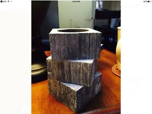 New Stackable Reed Diffuser Holder Partylite Gray NEW in box  (p90617)