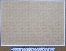 Dolls house 1/12th scale paper - A4 sheet - beige ceramic tile flooring