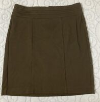 CAbi 505 Miranda Career Skirt Black Size 10 A-Line Back-zip EUC