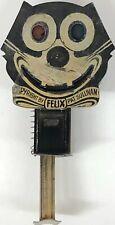 Antique 1920's Felix The Cat Tin Litho Push Sparkler Toy Germany