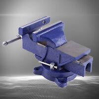 """4""""/ 5""""/ 6"""" Parallel-Schraubstock 100mm-150mm mit Amboss Drehbar 360° Neu ST -02"""