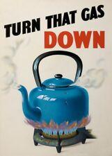 TURN THAT GAS DOWN British WW2 Propaganda Poster 250gsm A3 Print