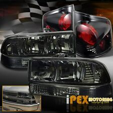 1998-2004 Chevy S-10 S10 Smoke Headlights +Bumper Signal + Dark Smoke Tail Light