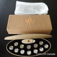 1999 Canada Millennium Sterling Silver 25 Cents Quarter Coin Set #coinsofcanada
