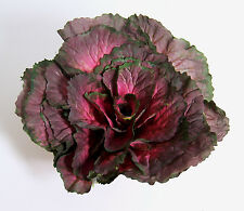 "Designer XLarge Artificial Faux Fake Purple Kale with 3.5"" Stem Vegetable"