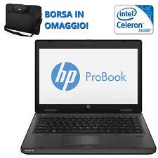 NOTEBOOK PORTATILE RICONDIZIONATO HP 6460B CPU DUAL CORE B810 RAM 4GB HDD 250GB