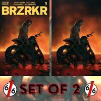 🚨💥 BRZRKR #1 RAHZZAH 616 Motorcycle Variant Set Of 2 LTD 500 COA