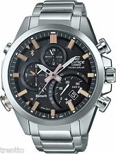 CASIO EDIFICE BLUETOOTH SMART SOLAR WATCH RELOJ CRONOGRAFO MEN S EQB-500D-1A2ER