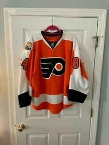 Brennan Menell Philadelphia Flyers Game Issued 50th Anniversary Home Jersey