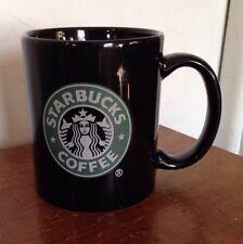 Starbucks Black Coffee Cup Mug Green Mermaid Logo White Lettering