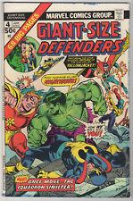 Giant-Size Defenders #4 LOT (4) VG/FN 1975 Marvel Bronze Hulk SQUADRON SINISTER