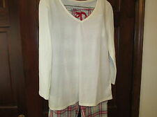 Nautica 2-Piece Pajama Set, V-Neck Top, Size Large, NWT