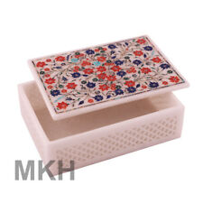 Indian Marble Handicrafts Inlaid Jewelry Boxes Marble Jewellery Box Arts Gifts