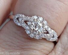 diamonds 925 silver wedding ring Sku021 2.12ct off white moissanite wt simulated