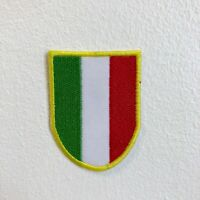 Italian Flag Racing Sport Football Badge Shield Iron Sew on Embroidered Patch