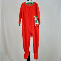 Carter's Toddler Fleece Christmas One Piece Sleeper Red Feet NWT NEW - Size 4T