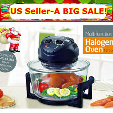 17Quart Hometech Halogen Oven Convection Countertop Broil Bake Frying Steam Food