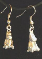 Earrings Tiny Hippopotamus Baby Fiona Hippo Silver Alloy Hook Earrings Jewelry
