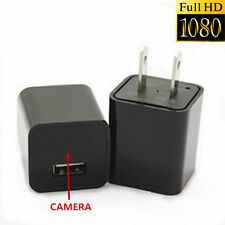 1080P HD Spy Mini US Plug Charger Hidden Camera Cycle DVR Video Recorder+8GB