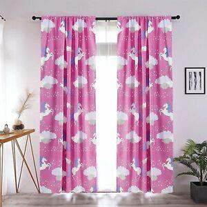 Home Kids Window Curtain Panels w/tiebacks 2 Panel 84 in , Various Fun Printed.