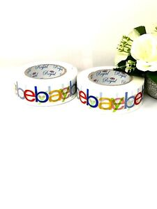 2x Ebay Branded Extra-Strong Parcel Packing Tape 48MMX132M