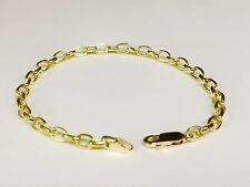 "18k solid gold handmade ROLO link men's chain/Bracelet 7.5"" 10 grms 4.7 MM"