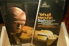 CE RYEHUDI MENUHIN BACH THE TWO VIOLIN CONCERTOS IN A MINOR AND E AND D.NM LP