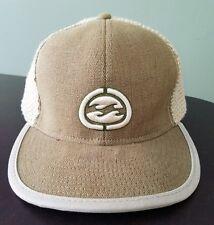 Billabong Adjustable Trucker Baseball Hat Cap 71/2 Stretch Fit Burlap style back