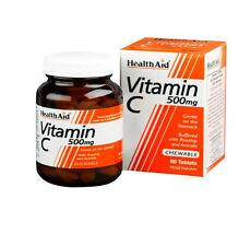 HEALTH AID VITAMIN C 500MG CHEWABLE - 60 TABLETS