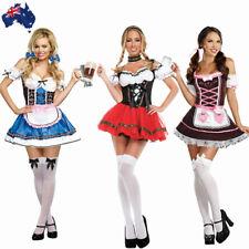 German Oktoberfest Beer Girl Costume Octoberfest Bavarian Wench Maid Fancy Dress