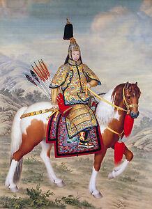 The Qianlong Emperor in Ceremonial Armour on Horseback, Art, Museum Canvas Print