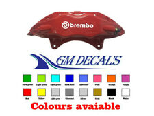 Brembo logo Brake Caliper Sticker/Decals X4 all colours, Quality non oem.