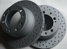 Fits 911 968 944  Cross Drilled Brake Rotors Made In Germany Rear