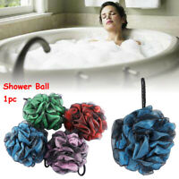 Exfoliation  Puff Double color Scrubber Shower Ball Bath Brush Shower Sponge