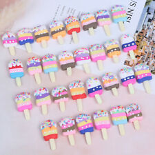 6Pcs Polymer Clay Popsicle Ice Cream Miniature Food Models Dollhouse Accessorie&