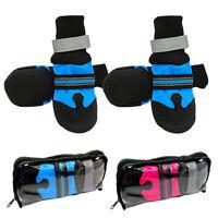 4pcs Anti-slip Waterproof Dog Shoes Reflective Winter Warm Dog Boots Dog Socks